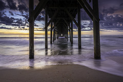 Under the Pier (Longleaf.Photography) Tags: surf city surfcity pier sunrise sunset coast sea beach nc ocean topsail island