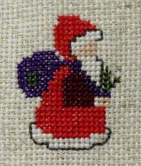 Santa HMM! (BrigitteE1) Tags: handmade macromondays weihnachtsmann santa santaclaus stickerei embroidery