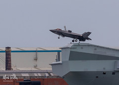 AIRBOURNE! (mark_rutley) Tags: aircraft aircraftcarrier aviation f35b hmsqueenelizabeth portsmouth rn royalnavy warship aviationphotography aviationphotographer aviaiton navy jet jetaircraft warplane