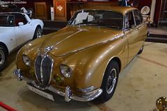 Jaguar 3.8S 1964 (Monde-Auto Passion Photos) Tags: voiture vehicule auto automobile cars jaguar 38s berline or doré ancienne classique rare rareté collection vente enchère osenat france fontainebleau