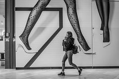 Legs (Rien van Voorst) Tags: streetphotography straatfotografie strasenfotografie fotografíacallejera photographiederue fotografiadistrada monochrome city urban highcontrast nederland thenetherlands benen beine legs lopen gehen walking