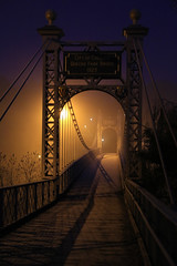 Chester (norm.edwards) Tags: cold misty chester cheshire lovely blue yellow light riverdee dee bridge crossing tide winter