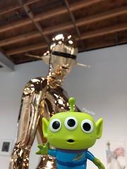 Antenna Ears (tiramisu_addict) Tags: toystoryalien toys funkopop vinyltoys disney pixar littlegreenmen ihavebeenchosen sexyrobot hajimesorayama art sculpture metallic jeffreydeitchgallery instagram