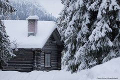 Cottage! (petergranström) Tags: approved cottage stuga timber timmer trees träd snow snö mountain berg