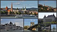 View from the Danube 3 (wilma HW61) Tags: collage photoborder view scenery scenario uitzicht boedapest budapest hongrie hongarije hungary ungheria magyarország europa europe európa nikond90 outdoor wilmahw61 wilmawesterhoud városkép történelmi cityscape historical wow