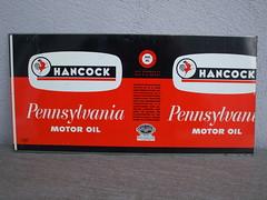 Hancock Pennsylvania Motor Oil Yellow Red & Black Flat Unrolled Steel 1 Quart Oil Can (beetle2001cybergreen) Tags: hancock pennsylvania motor oil yellow red black flat unrolled steel 1 quart can