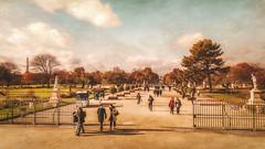 Jardin des Tuileries (Ro Cafe) Tags: paris jardin eiffel city cityscape urban autumn travel nikkor2470mmf28 sonya7iii textured