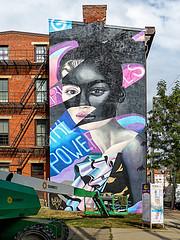 Girl Power By Elle (J Wells S) Tags: mural streetart wallart girlpower elle publicart bricks urban urbanart findlaymarket overtherhine otr cincinnati ohio blinkcincinnati