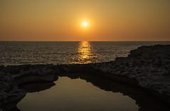 Coastal Sunset (CraDorPhoto) Tags: canon6d landscape nature outdoors outside sun sunset golden mediterranean sea gozo malta