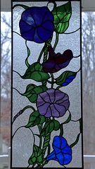 Morning Glory in Stained Glass (Sandra Mahle) Tags: stainedglass handcrafted art morningglory