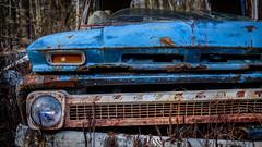 Project (jtr27) Tags: dscf4475xl3 maine truck junkyard chevy chevrolet rust blue