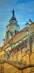Altstadt Tübingen mit vielen Treppen. Stiftskirche Tübingen Südöstlich (eagle1effi) Tags: südöstlich stiftskirchetübingen treppen s10smartphone s10ki bestefotos altstadt oldcity