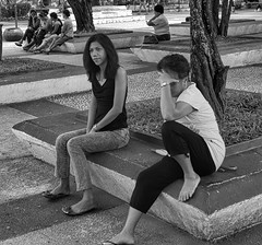 Something doesn't seem right (Beegee49) Tags: street people women filipina sad blackandwhite monochrome sony a99 bw silay city philippines asia