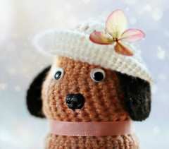 How much is that doggie in the window? (Through Serena's Lens) Tags: macromondays handmade doggie macro crochet wool toy canoneos6dmarkii dof bokeh