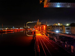 Night harbor | HUAWEI P30 Pro (night mode) (mike | MKvip.photo) Tags: huaweip30pro p30pro huawei vogl29 leica leicacamera smartphonephotography nightmode handheld availablelight naturallight backlight backlighting night nightlights water river rhine rhein rheinhafen harbor rhineharbor industrial reflections landscape waterscape winter karlsruhe germany europe mth mkvip