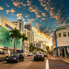 Walking on Collins Ave. (Aglez the city guy ☺) Tags: collinsave miamibeach miamifl architecture afternoon urbanexploration sobe street cars palmtrees perspective outdoors miamibeachcity