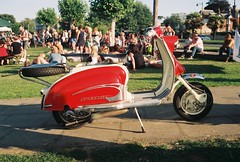 2019-08 Isle of Wight Scooter Rally 2019 (Chi Bellami) Tags: film fujifilm fujicolor c200 nikon nikonosv 35mm zonefocus scalefocus scanned scan colour c41 negative boots chibellami amphibiouscamera nikonos coast ryde pavilion august bankholiday classic vintage scooter rally lambretta isleofwight