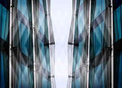 Impressions of a city (scinta1) Tags: newzealand christchurch architecture building glass abstract lines mirrored urban flipped blue