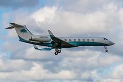 N565JM Gulfstream G550 5538 KFXE (CanAmJetz) Tags: n565jm gulfstream g550 5538 bizjet aircraft airplane nikon landing fxe kfxe reflection