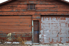 Password? - Garage Series (Doris Burfind) Tags: garages toronto downtown urban urbex decay weathered alley lane