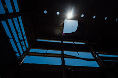 Blue Sky Through Ceiling of Juragua Nuclear Power Plant Ciudad Nuclear, Cuba (AdamCohn) Tags: adamcohn cienfuegos ciudadnuclear cuba cubanmisslecrisis juraguanuclearpowerplant plantanucleardejuraguá abandoned coldwar incomplete industrialdecay nuclear nuclearplant nuclearpower streetphotographer streetphotography wwwadamcohncom