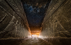 Night Approaches (Trent's Pics) Tags: templeofhathor hathortemple archaeology architecture ancient dusk egypt egyptian dendera sunset night stars temple ruins spiritual hathor