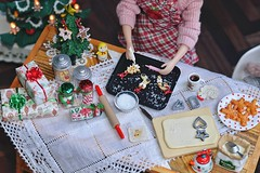 [Advent] - Holiday Baking 🍪 (Moonrabbit_ly) Tags: christmas rement rements miniature miniaturekitchen dollhouse diorama blythe