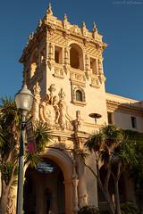 Balboa Park Spanish Architecture (GoodLifeErik) Tags: pacificphotographicsociety balboapark sandiego outside december goldenhour architecture palmtrees pradorestaurant