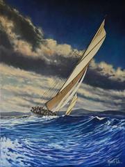 Clouds and waves (Márcia Valle) Tags: clouds waves sailing velas veleiro márciavalle brasil brazilianpainter art arte painting oiloncanvas óleosobretela huillesurtoile mar mer sea