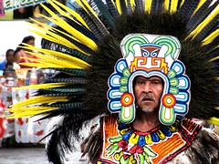 Parade (thomasgorman1) Tags: warrior aztec parade street performer dancer mexico feathers guanajuato canon looking colors colorful streetshots streetphotos culture entertainment