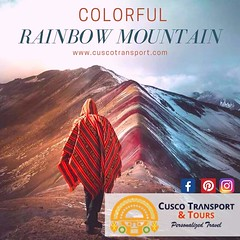 Rainbow Mountain Private Tours!! Rainbow Mountain for locals as Vinicunca Mountain, it is known for its majestic colorful mountains and valleys is a must-do for any hiker. This new and iconic destination in Cusco Peru does not disappoint to all those who (cuscotransportweb) Tags: traveler trekking vinicunca rainbowmountain colorfultour privatetours tourcusco cuscotransport cuscoperú