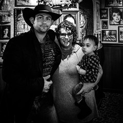 024693764230961-119-19-12-3 Generatios of Floods-2-Black and White (Don't Mess With Jim) Tags: 2019 ameriaca christmaslights fujifilmxt30 lasvegas nevada people cowboy cowgirl december party restaurant family monochrome blackandwhite