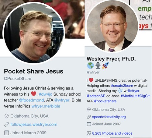 @pocketshare and @wfryer Twitter profile by Wesley Fryer, on Flickr