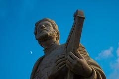 Sanctuaire national Ta' Pinu sur Gozo (uluqui) Tags: fuji fujifilm xt20 xtrans architecture religion church malte malta vacance holiday wander wanderlust light sky blue statue stone sun sunlight moon