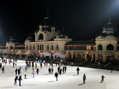City Park Ice Rink - Budapest, Hungary (sandorson) Tags: icerink műjégpálya budapest hungary skating winter városliget citypark baroquerevival neobaroque neobarokk francsekimre