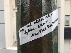 Max Frei Sticker (svennevenn) Tags: bergen maxfrei stickers gatekunst streetart