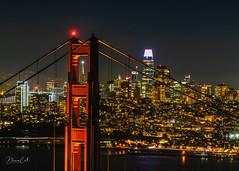Gateway to the New World (Selectivebits) Tags: night urban light bridge goldengate sanfrancisco california
