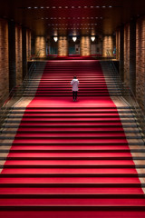 Red Carpet (- Etude -) Tags: osaka japan sony architecture stairs people interior a7rii zachchang
