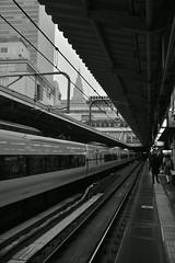 駅 (Architecamera) Tags: monochrome blackandwhite blackwhite snap train shinjuku people station d750
