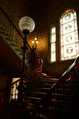 Grand Staircase.. (Janice Perrin) Tags: grandstaircase labassamansion nationaltrust christmasdecorations