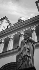 The Cathedral Basilica of St. Stanislaus and St. Ladislaus of Vilnius is the main Roman Catholic Cathedral of Lithuania (Missing Pictures) Tags: view photo photography sculpture architectural traveling travel architecture white black blackandwhite bw europe explore mood monochrome temple vilnius lithuania church basilica catholic cathedral