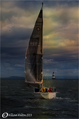 Destination(Scotland) (williamwalton001) Tags: pentaxart boat water sky landscapephoto seascape sailing lighthouse