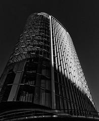 The bright side II (jefvandenhoute) Tags: belgium belgië brussel brussels lines architecture monochrome blackandwhite skyscrapers