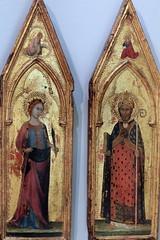 IMG_3459 Lippo Memmi 1291-1356 Siena  Sainte martyre et saint évêque    Holy martyr and holy bishopc 1325 Le Mans  Musée de Tessé  Tempera sur bois