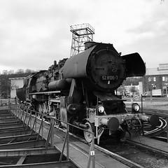 Dampf abgelassen (Cydracor) Tags: br52 iphonese iphone wildau lokdrehscheibe drehscheibe lokomotive lok cydracor