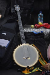 Banjos, Gimbris, etc. [Spike Lutes] 26: Banjo [open back] (of Cory Seznec) (KM's Live Music shots) Tags: musicalinstrument hornbostelsachs chordophone banjo coryseznec haysgalleria