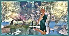 KarnatoseD Indy Dress n Siren Shoes (Karmandi Caeran SL Owner Of Karmatose Designs) Tags: dress leather sleeveless short shoes inside outside beautiful scene fantasy imagination wild karmatosedesigns zipper teal black blonde near far clothes design forest mystical dreams