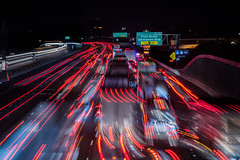 major injury accident during monday night's rush hour (pbo31) Tags: bayarea night dark black color nikon d810 december 2019 boury pbo31 eastbay alamedacounty livermore roadway traffic rushhour accident 380 over lightstream red blur motion