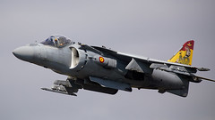 Harrier (Bernie Condon) Tags: bae mcdonnelldouglas harrier av8b matador fighter span amada spanishnavy warplane jet vstol jumpjet riat airtattoo tattoo ffd fairford raffairford airfield aircraft plane flying aviation display airshow uk