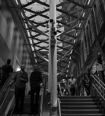 Big Brother is watching (Valantis Antoniades) Tags: edinburgh scotland station train black white monochrome people big brother watching camera spying spy